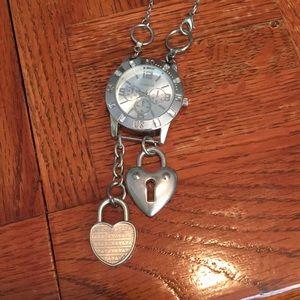 Vintage watch necklace- OOAK design